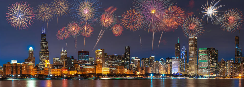Fireworks over Chicago Dr McCoy Orthodontics in Chicago Mt Prospect IL